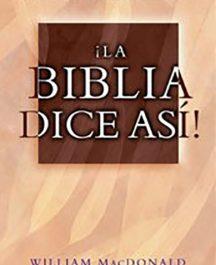 La Biblia dice así