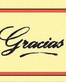 "Tarjeta ""Gracias"" (Pack x 100 u.)"