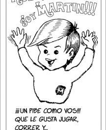 "Folleto/Historieta Evang. Niñez ""Martín"" - (1 color, para colorear) (x millar)"
